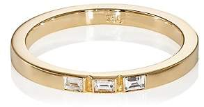 Ileana Makri Women's Baguette White Diamond Threadband-Yellow Gold