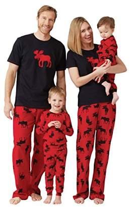 Hatley Women's Moose On Red Jersey Pyjama Bottoms, Red