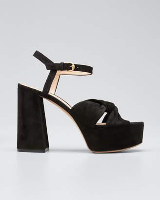 Gianvito Rossi 70mm Platform Sandals with Twist Front