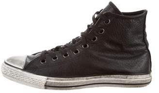 John Varvatos Converse by Distressed High-Top Sneakers