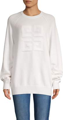 Givenchy Logo Balloon-Sleeve Cashmere Sweater