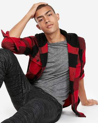 Express Plaid Hooded Flannel