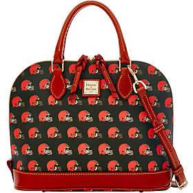 Dooney & Bourke NFL Browns Zip Zip Satchel