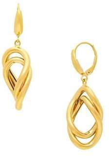Lord & Taylor 14K Yellow Gold Link Drop Earrings