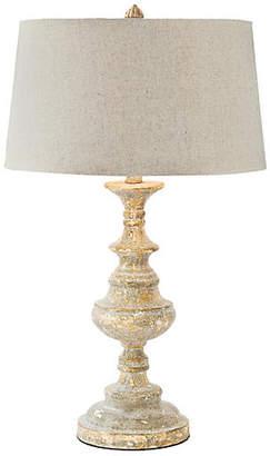 Regina-Andrew Design Wood Carved Table Lamp - Distressed Gold - Regina Andrew Design