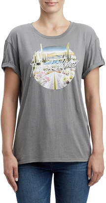 True Religion ROLLED SLEEVE BF WOMENS TEE