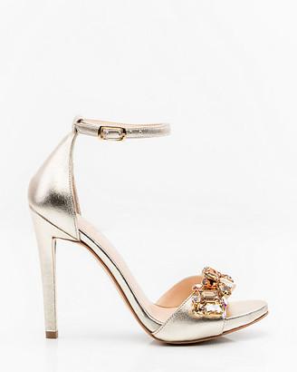Le Château Italian-Made Leather Ankle Strap Sandal