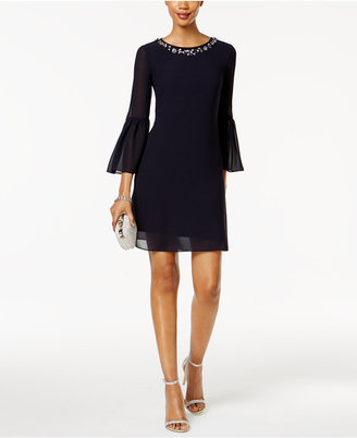 Jessica Howard Bell-Sleeve Embellished Dress $109 thestylecure.com