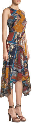 Laundry by Shelli Segal Sleeveless Patterned Handkerchief Dress