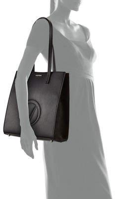 Mario Valentino Valentino By Laurene Dollaro Leather Shoulder Tote Bag