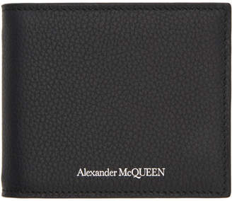 Alexander McQueen Black Money Clip Bifold Wallet