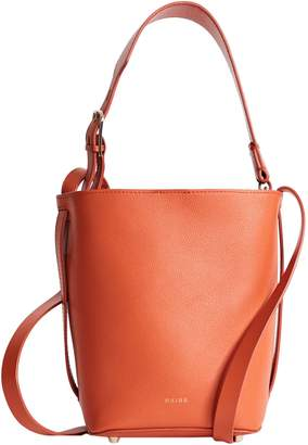 Reiss Hudson Mini Leather Bucket Bag