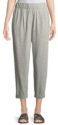 Eileen Fisher Speckled Knit Slouchy Ankle Pants, Petite