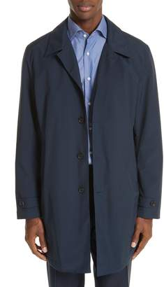 Canali Waterproof Wool Blend Raincoat