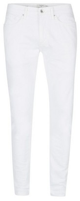 Topman Mens White Stretch Skinny Jeans