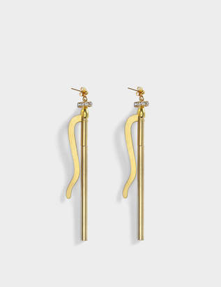 Aris Geldis Longevity Earrings in Gold and Strass Plated Brass