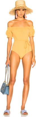 Lisa Marie Fernandez Leandra Seersucker Swimsuit