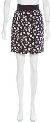 Dolce & Gabbana Floral Print Mini Skirt w/ Tags