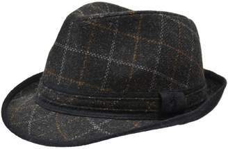 London Fog Windowpane Tweed Fedora