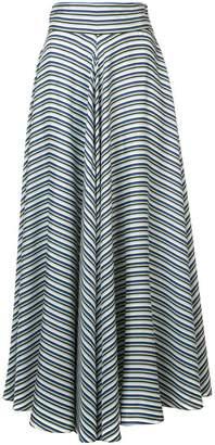 Diane von Furstenberg high waisted striped skirt