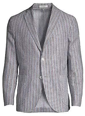 Boglioli Men's Multi-Color Stripe Sport Jacket