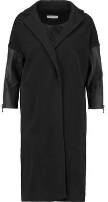 Kaufman Franco Kaufmanfranco Leather-Paneled Wool-Blend Coat