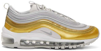 Nike Gold and Silver Air Max 97 SE Sneakers
