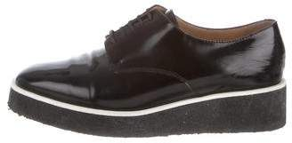 Calvin Klein Collection Patent Leather Platform Oxfords