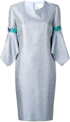 Genny metallic shift dress