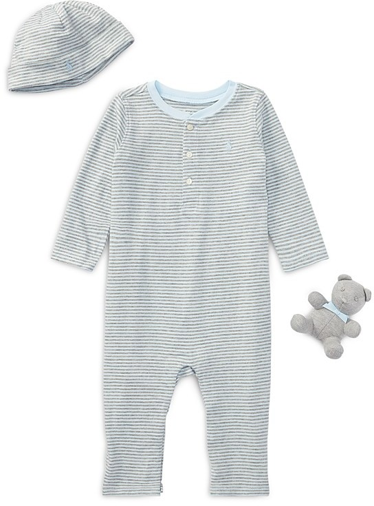 Ralph Lauren Childrenswear Boys' Coverall, Hat & More Giftbox Set - Baby