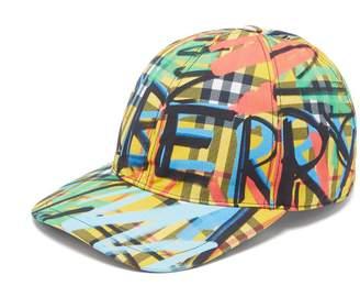 Burberry Graffiti-print cotton baseball cap
