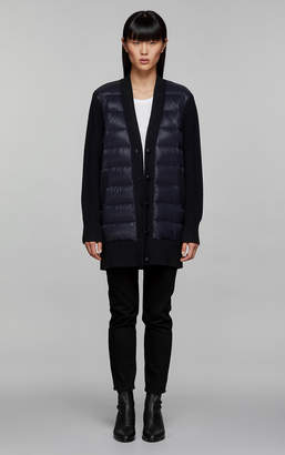 Mackage NIVA sweater down cardigan jacket with wool detailing