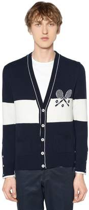 Thom Browne Striped Tennis Cashmere Knit Cardigan