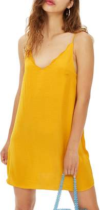 Topshop Scallop Mini Slipdress