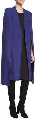 Kendall + Kylie Long Contrast-Trim Tuxedo Cape, Patriot Blue $208 thestylecure.com