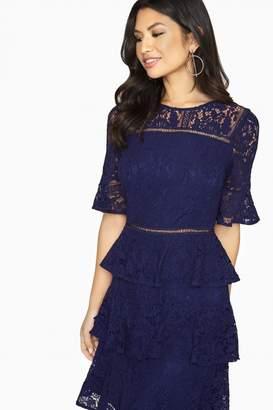 Girls On Film Bibi Tiered Lace Shift Dress