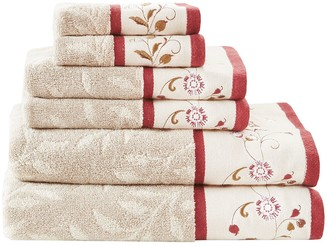 Madison Park Belle Embroidered Jacquard 6-piece Towel Set