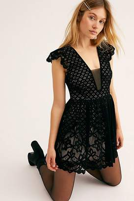DAY Birger et Mikkelsen Fp One Naomi Flocked Velvet Mini Dress