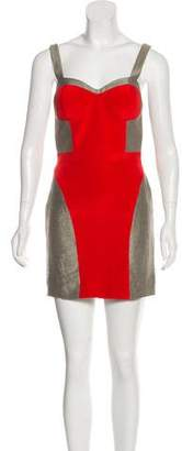 Rebecca Minkoff Silk Colorblock Dress