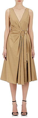 Derek Lam 10 Crosby Women's Gathered Cotton Poplin Wrap Dress $425 thestylecure.com