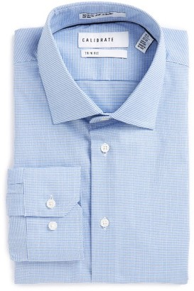 Men's Calibrate Trim Fit Non-Iron Dress Shirt $69.50 thestylecure.com