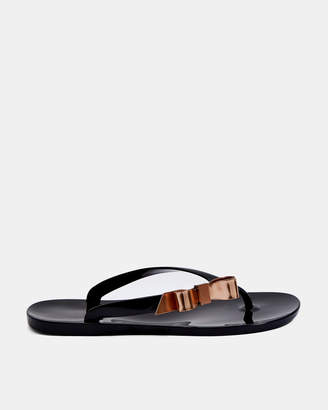 Ted Baker SUSZIE Bow detail jelly flip flops