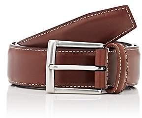 Barneys New York Men's Leather Belt-Brown