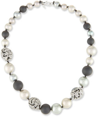 Alexis Bittar Pearly Crystal Mosaic Strand Necklace $295 thestylecure.com
