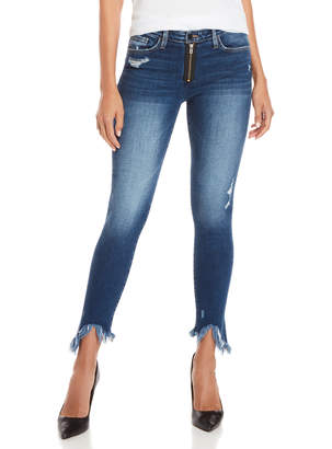 Flying Monkey Exposed Zip Skinny Jeans