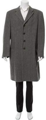 Armani Collezioni Woven Trench Coat