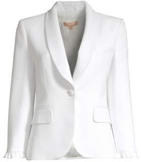 Michael Kors Ruffle One Button Jacket
