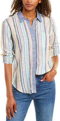Splendid X Gray Malin Pocket Linen-Blend Top