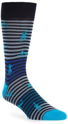 Bugatchi Monkey Mercerized Cotton Blend Socks