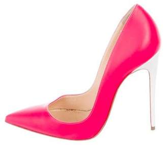 Christian Louboutin Leather Pointed-Toe Pumps